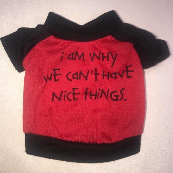 Other - Dog Pet XS Animal Shirt T-Shirt Tee Top Red Black
